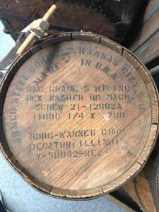 Decatur Borg Warner Wooden Barrel