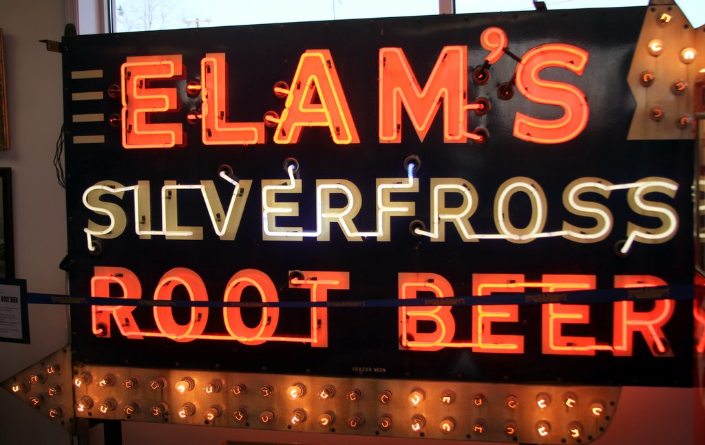 Elam's Root Beer Sign